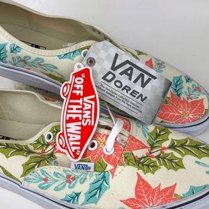 74a5f4df87 Vans Shoes - NEW! Vans Authentic Van Doren Poinsettia M10.5 W12